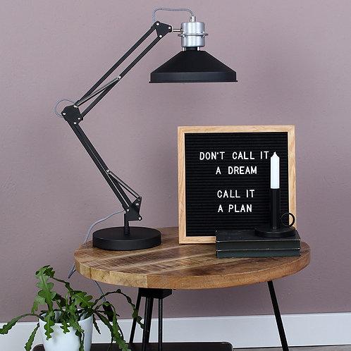 Industriell bordlampe svart - Zappa