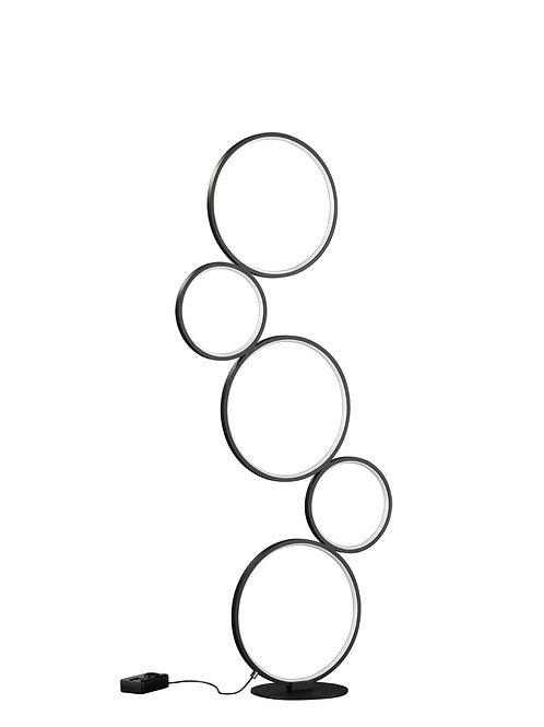 Design gulvlampe svart - Rondo