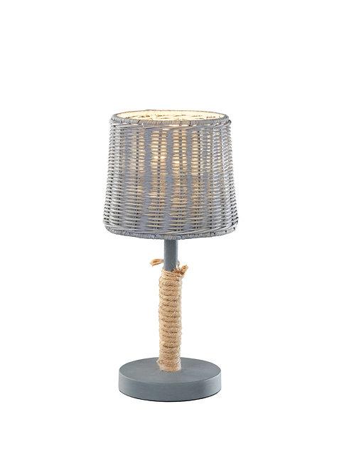 Bordlampe grå - Rotin