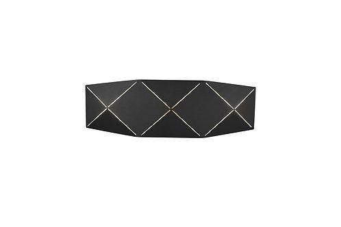 Design vegglampe svart - Zandor II