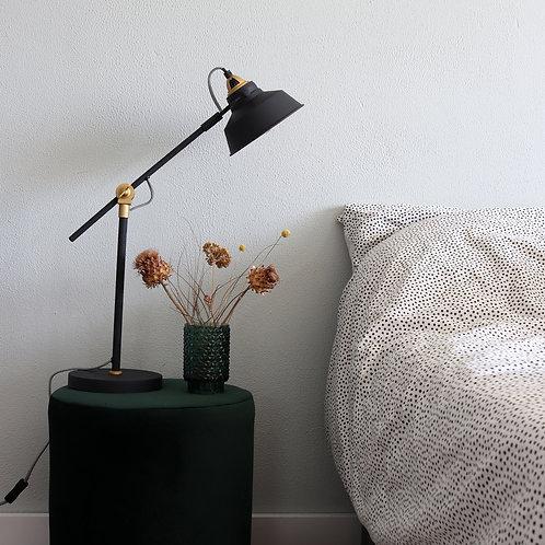 Industriell bordlampe svart - Nørve