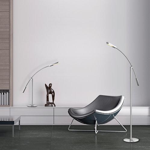 Design gulvlampe stål LED dimbar - Aurora II