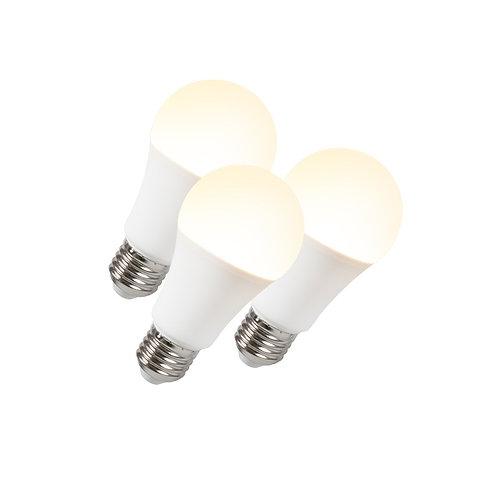 LED lyspære B60 12W E27 3 stk
