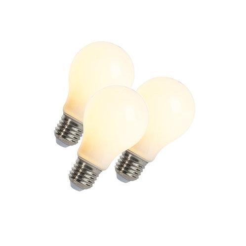 LED lyspære E27 5W 410LM A60 mat dimbar 3 stk