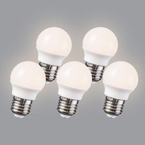 LED 3.5W E27 G45 WW 5 stk