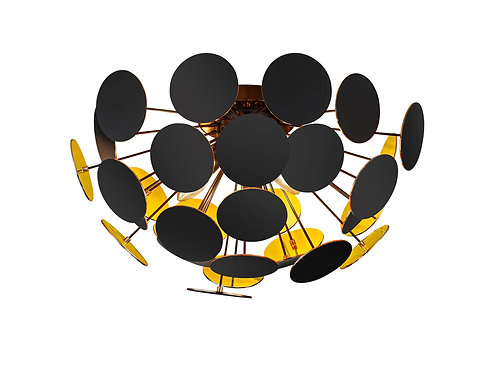 Design taklampe svart - Discalgo