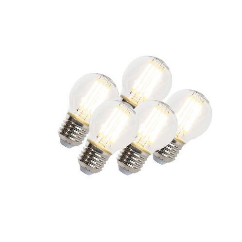 LED lyspære E27 5W 470LM P45 dimbar 5 stk