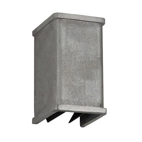 Vegglampe aluminium - Shutter