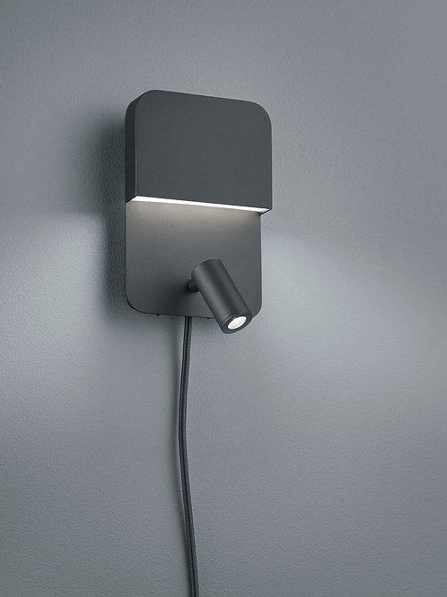 Vegglampe svart LED - Luigi