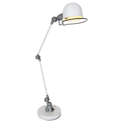 Industriell bordlampe hvit - Davin