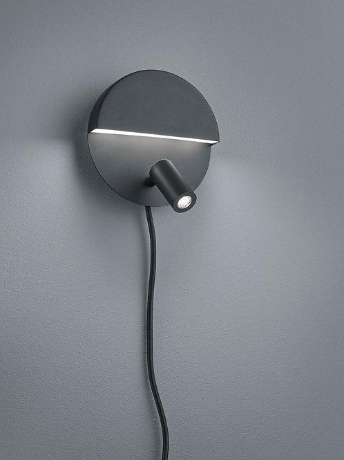 Vegglampe svart LED - Mario