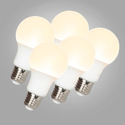 LED A60 E27 9W 3000K 5 stk