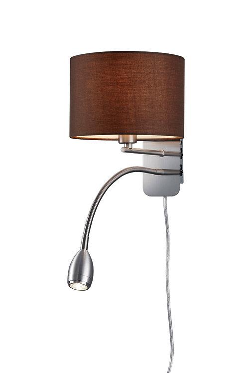 Vegglampe rund brun - Hotel