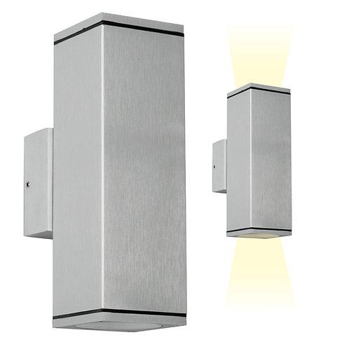 Vegglampe aluminium - Kelvin up & down