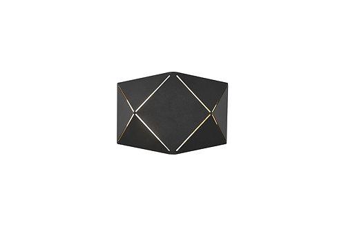 Design vegglampe svart - Zandor