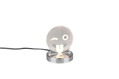 Bordlampe krom - Smiley