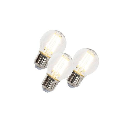 LED lyspære E27 5W 470LM P45 dimbar 3 stk