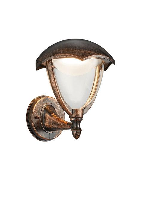 Vegglampe rustbrun LED - Gracht