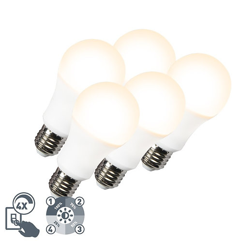 LED lyspære A60 12W E27 3000K 4-trinn dimbar 5 stk