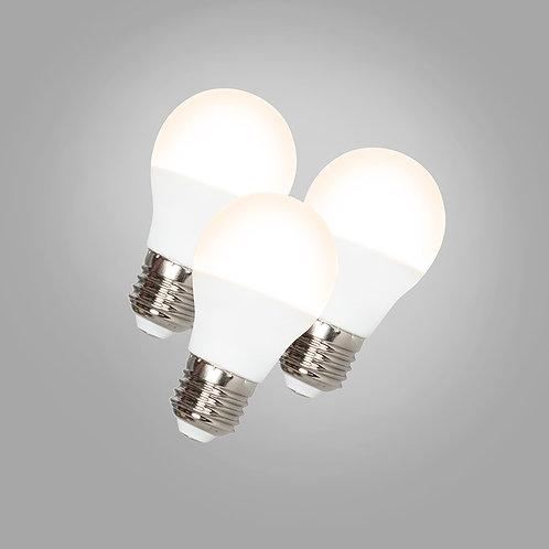 LED G45 E27 5W 3000K 3 stk