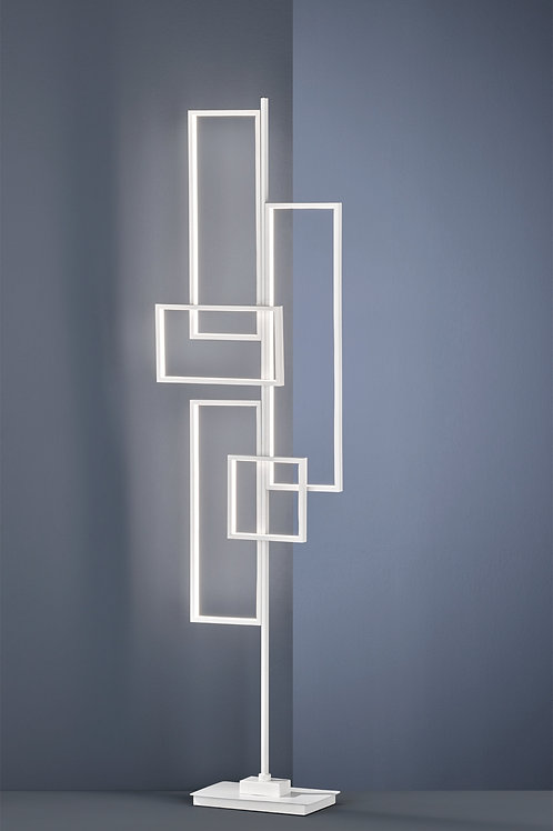 Design gulvlampe hvit LED - Tucson