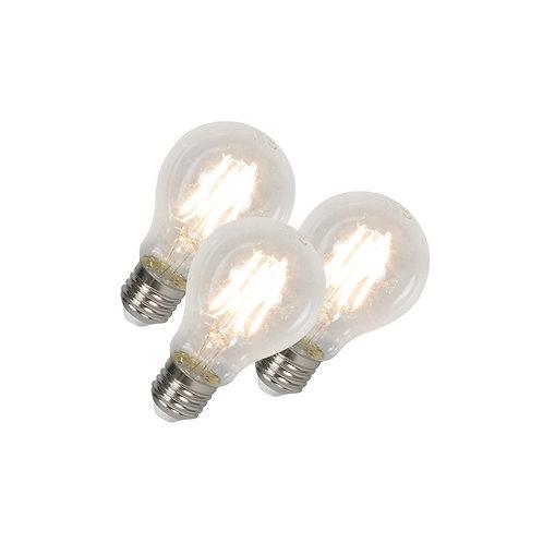 LED lyspære E27 4W 400LM 3 stk