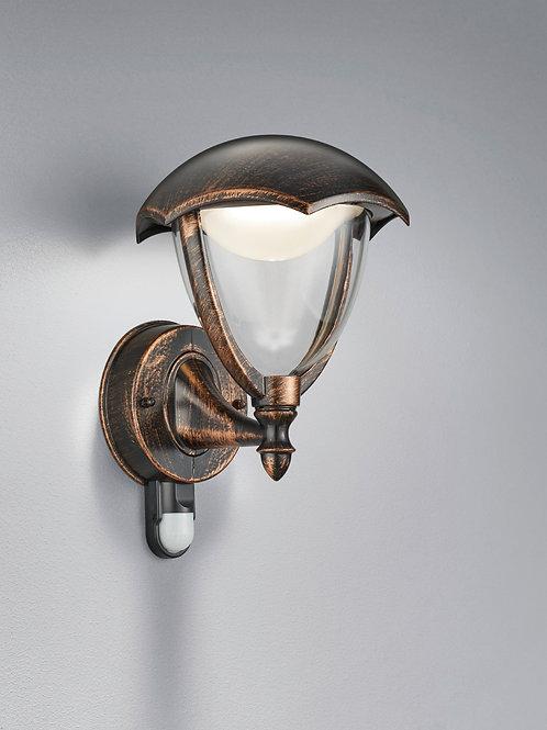 Vegglampe med sensor rustbrun LED - Gracht
