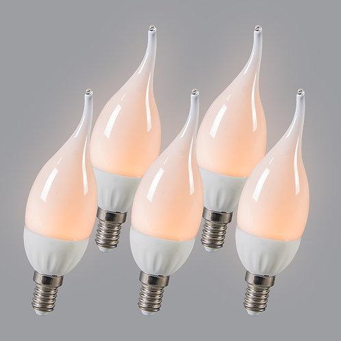 LED E14 3W 250 lumen 5 stk
