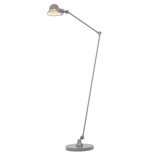 Industriell gulvlampe grå - Mexlite Davin