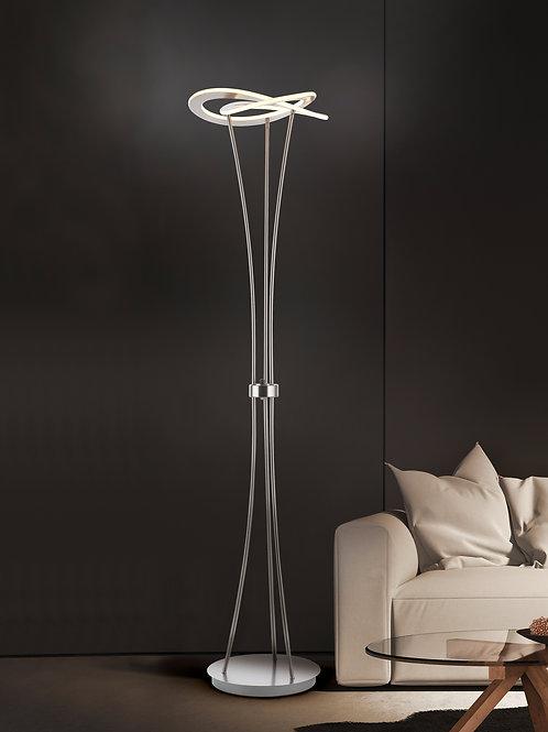 Design gulvlampe nikkel - Oakland