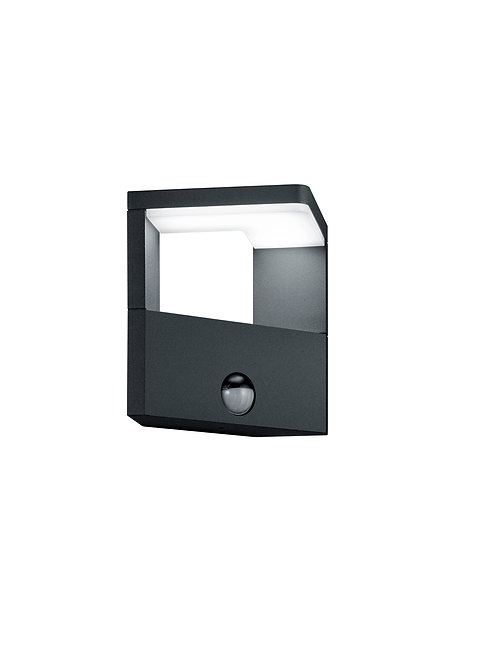 Design vegglampe svart med sensor - Ganges