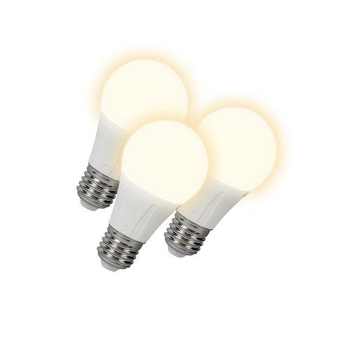 LED lyspære E27 6W 460LM 3 stk