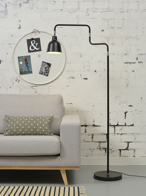 Design gulvlampe svart - London