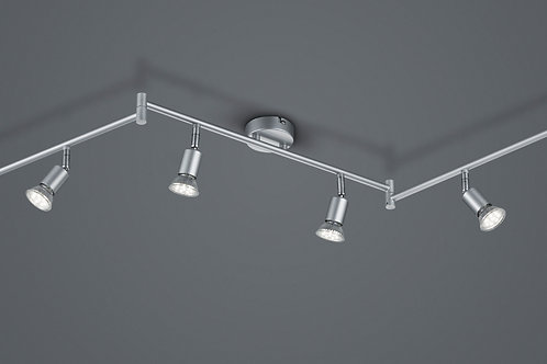 Taklampe Spot stål - Paris 6