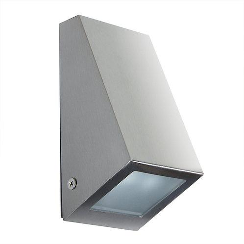 Vegglampe rustfritt stål - Flå down