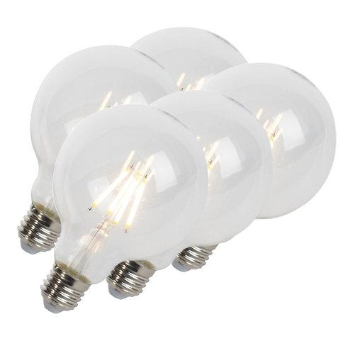 LED lyspære E27 5W 470LM G95 dimbar 5 stk