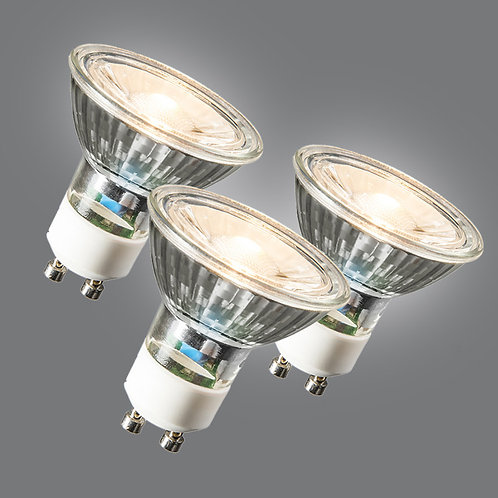 GU10 LED COB 3W 230LM 3000K 3 stk