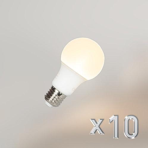 LED A60 E27 9W 3000K 10 stk
