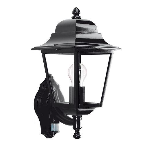 Klassisk vegglampe svart med sensor - Sorrento