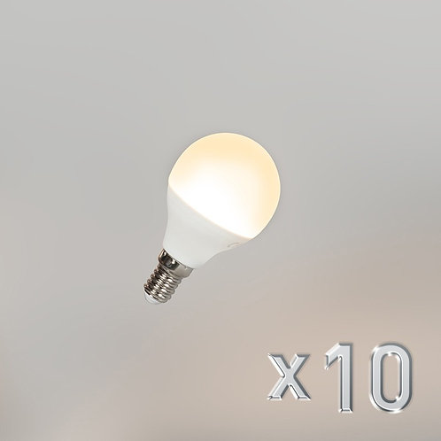LED G45 E14 5W 3000K 10 stk
