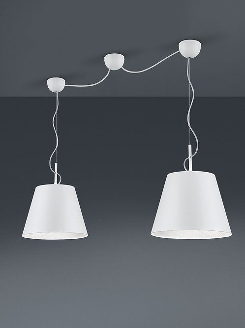 Design hengelampe hvit - Andreus 2