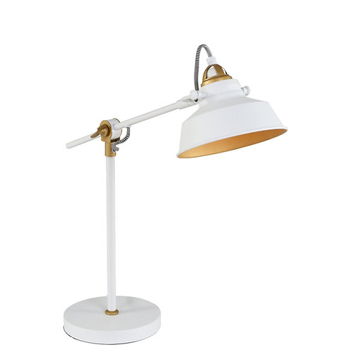 Industriell bordlampe hvit - Nørve