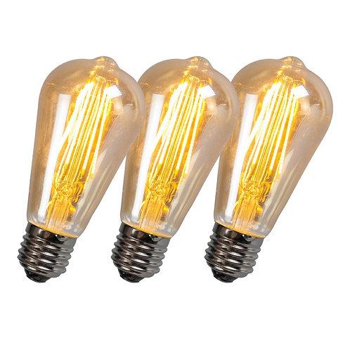 LED ST64 5W 2200K gull dimbar 3 stk