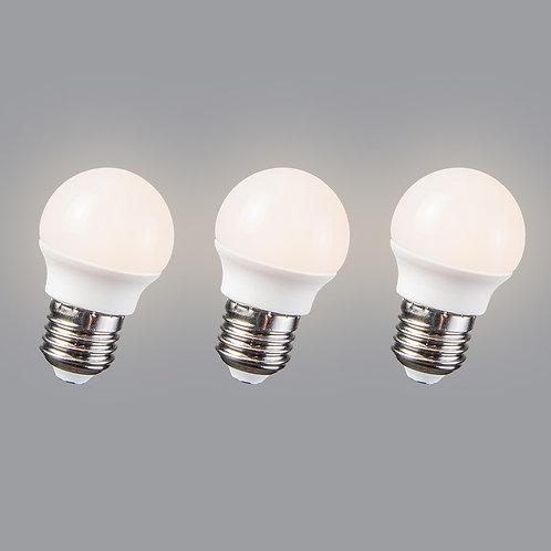 LED 3.5W E27 G45 WW 3 stk