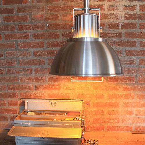 Industriell hengelampe stål - Rococo