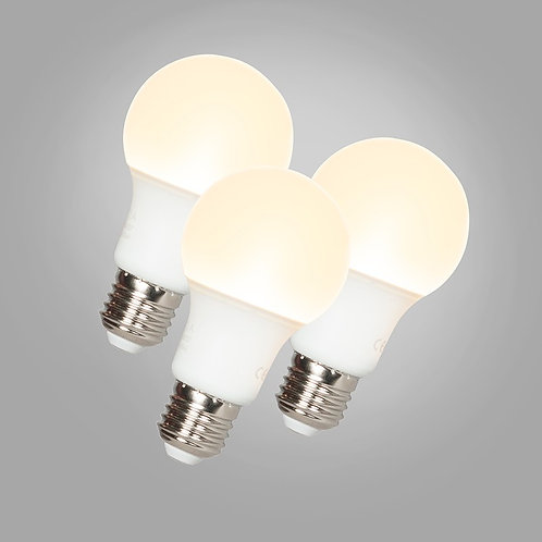 LED A60 E27 9W 3000K 3 stk