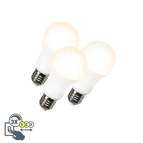 LED lyspære A60 12W E27 3in1 3 stk