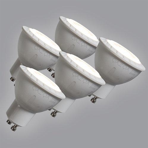 GU10 LED 7W 580LM varm hvit 5 stk