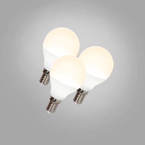 LED G45 E14 3W 3000K 3 stk