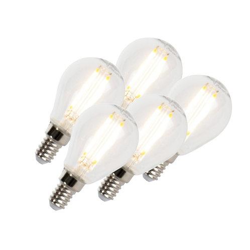 LED lyspære E14 5W 470LM P45 dimbar 5 stk